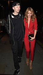 Professor Green and his wife Millie Mackintosh attend the Samsung Galaxy Alpha launch at The Collection in London, UK. 09/09/2014<br />BYLINE MUST READ : GOTCHAIMAGES.COM<br /><br />Copyright by © Gotcha Images Ltd. All rights reserved.<br />Usage of this image is conditional upon the acceptance <br />of Gotcha Images Ltd, terms and conditions available at<br />www.gotchaimages.com