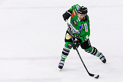 Maks Selan of Olimpija during ice hockey game between HDD Telemach Olimpija and SIJ Acroni Jesenice in 3rd leg of Finals of Slovenian National Championship 2015, on April 13, 2015 in Hala Tivoli, Ljubljana, Slovenia. Photo by Matic Klansek Velej / Sportida