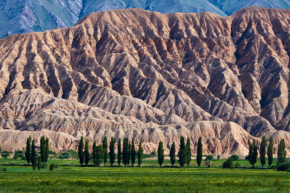 Kirghizistan, province de Naryn, paysage dans la région de Naryn // Kyrgyztan, Naryn province, landscape near Naryn