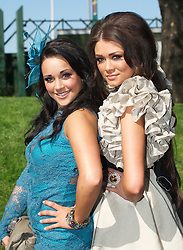 LIVERPOOL, ENGLAND, Thursday, April 7, 2011: Chelsea, 19, and Britney, 17, from Crosby during Ladies' Day on Day Two of the Aintree Grand National Festival at Aintree Racecourse. (Photo by David Rawcliffe/Propaganda)