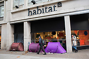 Homeless tents outside Habitat, 29 November 2018