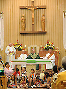 Centennial Mass at St. Anthony Church June 14 in Neopit, Wis. (Photo by Sam Lucero)