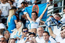 Fan of HNK Rijeka during football match between HNK Rijeka and HNK Cibala in Round #35 of 1st HNL League 2016/17, on May 21st, 2017 in Rujevica stadium, Rijeka, Croatia. Photo by Grega Valancic / Sportida