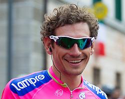 15-05-2013 WIELRENNEN: 11 ETAPPE GIRO D ITALIA: TARVIS<br /> Filippo Pozzato (ITA, Team Lampre-Merida)<br /> ***NETHERLANDS ONLY***<br /> ©2013-FotoHoogendoorn.nl