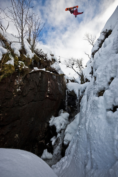 Markku Koski spins a wildcat 7, Glen Coe, Scotland.