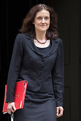 © licensed to London News Pictures. London, UK 16/04/2013. Secretary of State for Northern Ireland, Theresa Villiers  leaving Downing Street after Cabinet meeting on Tuesday, 16 April 2013. Photo credit: Tolga Akmen/LNP