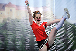 Assol Leader, Russia during All Female senior at second day of European Cheerleading Championship 2008, on July 6, 2008, in Arena Tivoli, Ljubljana, Slovenia. (Photo by Vid Ponikvar / Sportal Images).