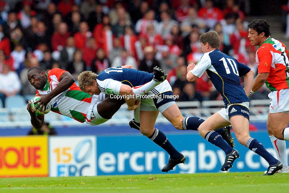 Rugby: Biarritz / Munster - 1/2Finale H Cup - 02.05.2010 - duel Erinle / De Villiers