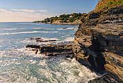 The famous Cliff Walk along the sea, Newport, Rhode Island, USA, September 2009.