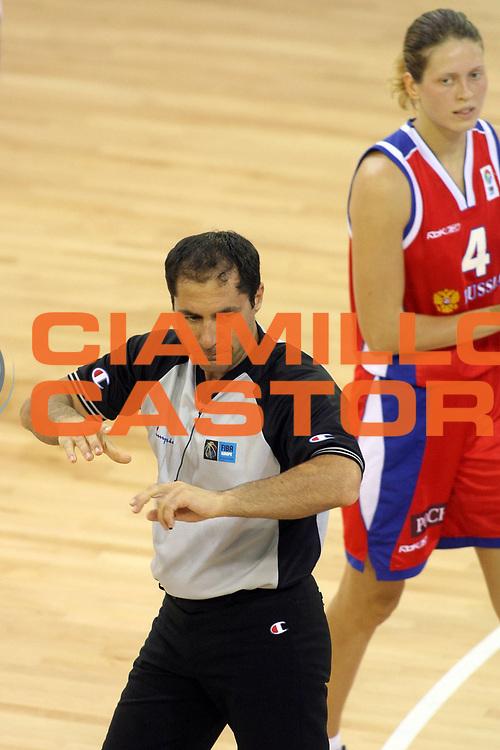 DESCRIZIONE : Ortona Italy Italia Eurobasket Women 2007 Spagna Russia Spain Russia<br /> GIOCATORE : <br /> SQUADRA : Arbitro Referees<br /> EVENTO : Eurobasket Women 2007 Campionati Europei Donne 2007 <br /> GARA : Spagna Russia Spain Russia<br /> DATA : 03/10/2007 <br /> CATEGORIA :<br /> SPORT : Pallacanestro <br /> AUTORE : Agenzia Ciamillo-Castoria/E.Castoria<br /> Galleria : Eurobasket Women 2007 <br /> Fotonotizia : Ortona Italy Italia Eurobasket Women 2007 Spagna Russia Spain Russia<br /> Predefinita :