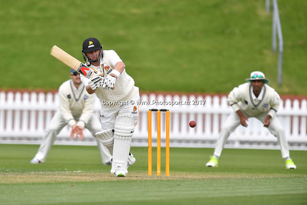 Firebirds Michael Papps bats during the Wellington Firebirds vs Auckland Aces Plunket Shield cricket match at the Basin Reserve in Wellington on Monday the 23 October 2017. Copyright Photo by Marty Melville / www.Photosport.nz