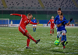 CESENA, ITALY - Tuesday, January 22, 2019: Wales' Loren Dykes during the International Friendly between Italy and Wales at the Stadio Dino Manuzzi. (Pic by David Rawcliffe/Propaganda)