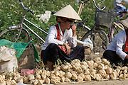 Hilltribe women selling vegetables.