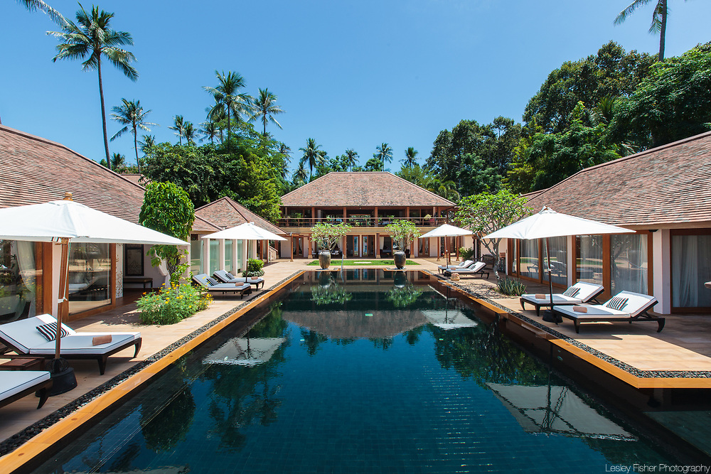 Baan Wanora, a luxury, private, beach front villa located in Laem Sor, Koh Samui, Thailand