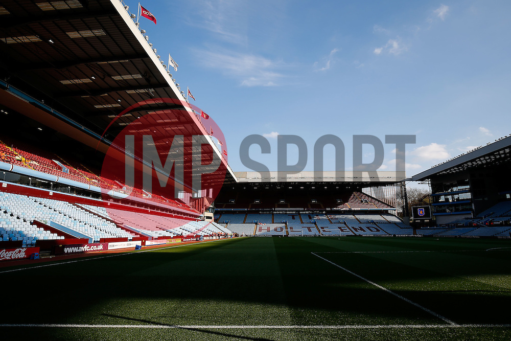 General View inside Villa park - Photo mandatory by-line: Rogan Thomson/JMP - 07966 386802 - 07/04/2015 - SPORT - FOOTBALL - Birmingham, England - Villa Park - Aston Villa v Queens Park Rangers - Barclays Premier League.
