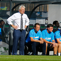 Dover's manager Chris Kinnear looks a troubled man during the National League match between Dover Athletic and Barnet FC at Crabble Stadium, Kent on 1 September 2018. Photo by Matt Bristow.