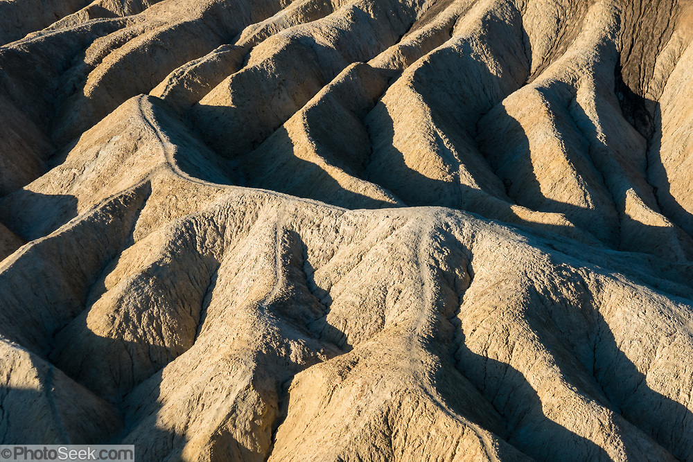 Sunrise seen from Zabriskie Point in Death Valley National Park, California, USA.