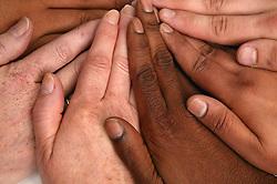 Multi racial hands,
