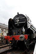 UK, 7 June 2009: The Tornado, a Peppercorn class A1 Pacific steam locomotive, stands at Blue Anchor station on the West Somerset Railway. Photo by Peter Horrell / http://peterhorrell.com