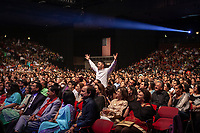 Atlantic City, New Jersey: Bollywood music fans pack the auditorium at Trump Taj Mahal for a concert by Sonu Nigam.