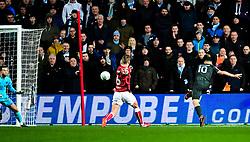 Sergio Aguero of Manchester City scores his sides second goal - Mandatory by-line: Joe Meredith/JMP - 23/01/2018 - FOOTBALL - Ashton Gate Stadium - Bristol, England - Bristol City v Manchester City - Carabao Cup Semi Final second leg