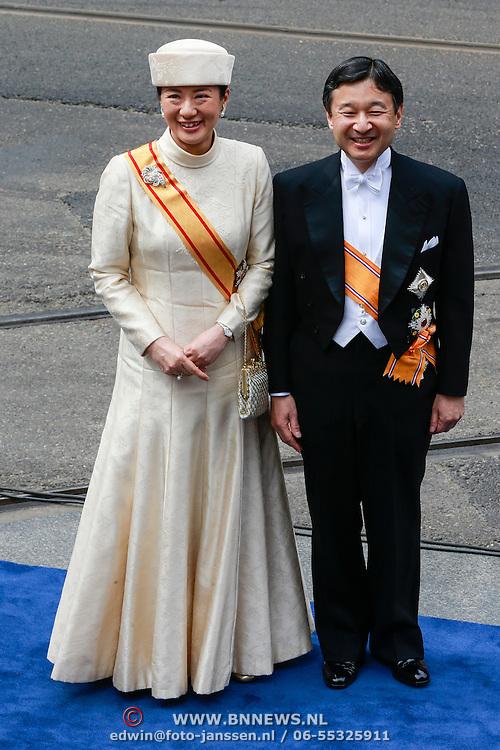 NLD/Amsterdam/20130430 - Inhuldiging Koning Willem - Alexander, Japanse kroonprinses Masako en partner kroonprins Naruhito