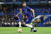 Cesc Fabregas of Chelsea (4) dribbling during the Champions League group stage match between Chelsea and PAOK Salonica at Stamford Bridge, London, England on 29 November 2018.