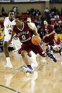 11/22/2006 - Anchorage, Alaska: Senior guard Brandon Worthy (0) of the Loyola Marymount Lions drives to the hoop as Loyola Marymount defeats the University of Alaska-Anchorage 69-58 in the first game of the 2006 Great Alaska Shootout<br />