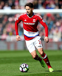 Gaston Ramirez of Middlesbrough - Mandatory by-line: Robbie Stephenson/JMP - 19/03/2017 - FOOTBALL - Riverside Stadium - Middlesbrough, England - Middlesbrough v Manchester United - Premier League