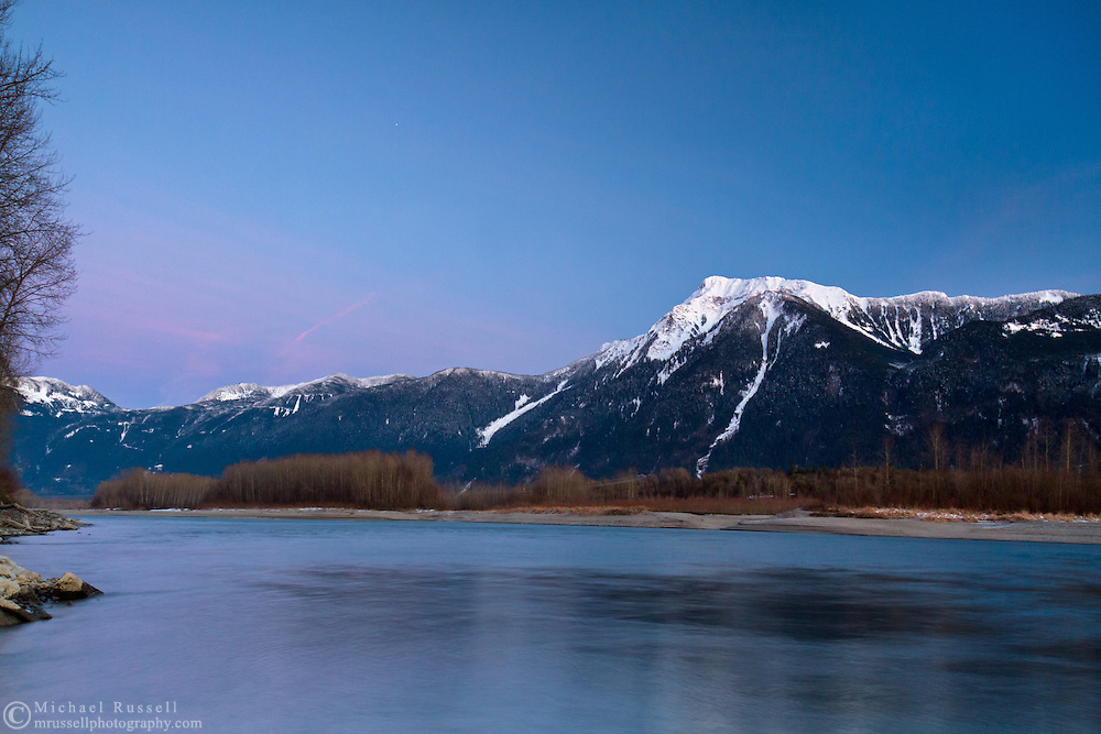The Fraser River and Mount Cheam from Agassiz, British Columbia, Canada