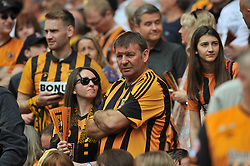 HULL CITY FANS,  Sky Bet Championship Play-Off Final, Wembley Stadium Saturday  28th May 2016.<br /> Photo:Mike Capps