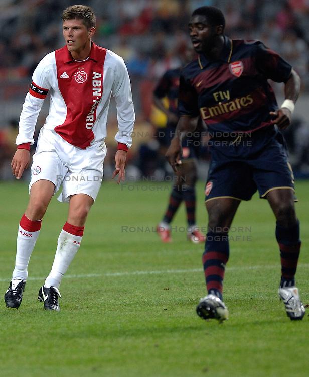 04-08-2007 VOETBAL: LG AMSTERDAM TOURNAMENT: AJAX - ARSENAL: AMSTERDAM<br /> Ajax verliest met 1-0 van Arsenal / Klaas Jan Huntelaar<br /> &copy;2007-WWW.FOTOHOOGENDOORN.NL