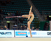Alexandra Agiurgiuculese from Udinese team during the Italian Rhythmic Gymnastics Championship in Bologna, 9 February 2019.