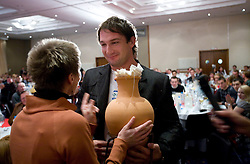 Lucija, wife of Best coach of the year Vladimir Kevo and Primoz Kozmus at Best Slovenian athlete of the year ceremony, on November 15, 2008 in Hotel Lev, Ljubljana, Slovenia. (Photo by Vid Ponikvar / Sportida)