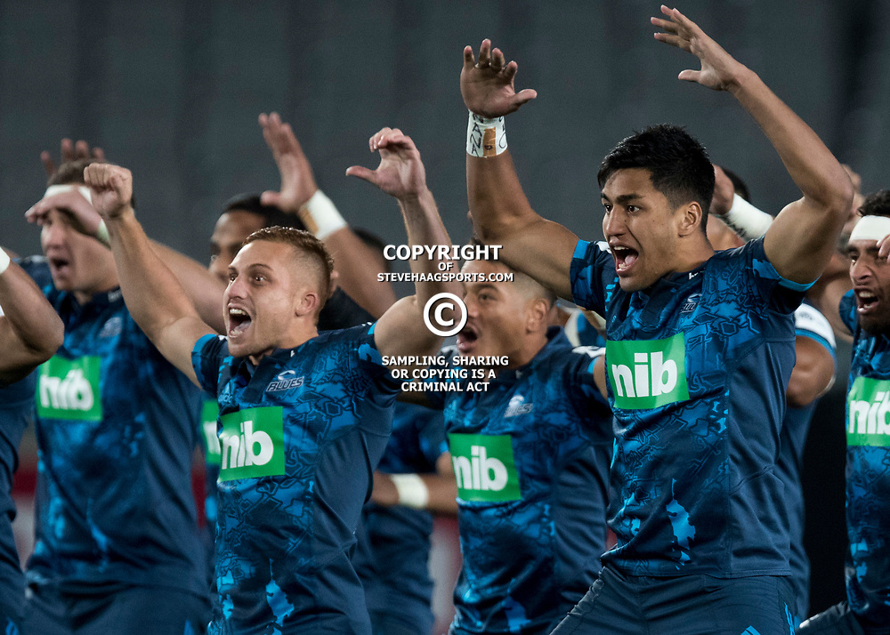 Haka, Eden Park, Auckland game 2 of the British and Irish Lions 2017 Tour of New Zealand,The match between the Auckland Blues and British and Irish Lions, Wednesday 7th June 2017   <br /> <br /> (Photo by Kevin Booth Steve Haag Sports)<br /> <br /> Images for social media must have consent from Steve Haag