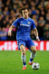 Chelsea Defender David Luiz (BRA) in action - Photo mandatory by-line: Rogan Thomson/JMP - 07966 386802 - 08/04/2014 - SPORT - FOOTBALL - Stamford Bridge, London - Chelsea v Paris Saint-Germain - UEFA Champions League Quarter-Final Second Leg.