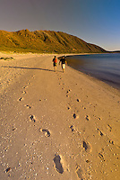 A couple walking on the beach, Isla San Francisco, Sea of Cortes, Baja California Sur, Mexico