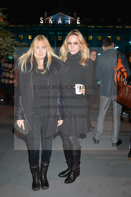 Left to right, MARISSA MONTGOMERY and LIZ MELNITCHENKO at Skate at Somerset House in association with Fortnum & Mason held on 10th November 2014.