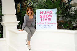 Carol Smillie poses in the Palm Court at Alexandra Palace to celebrate the opening of this year's Mums Show Live!, the UK's first exhibition aimed at parents with children aged 4 - 12 year olds, London, England, May 16, 2013. Photo by:  Chris Joseph / i-Images