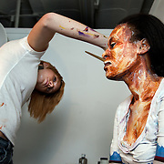 Artist Alexa Meade, paints Guardian correspondent Carlene Thomas-Bailey. Alexa is a Washington based artist who is attracting headlines stateside because she paints people instead of canvases. The result is a collection of walking, talking, living paintings. Her portraits start as subjects who have sat still for hours as Meade paints skin on skin, lips  and eyebrows using her own mixture of nontoxic paints and following the natural contours of their faces.