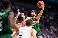 Real Madrid's player XXX and Unicaja Malaga's player Dani Diez during match of Liga Endesa at Barclaycard Center in Madrid. September 30, Spain. 2016. (ALTERPHOTOS/BorjaB.Hojas)