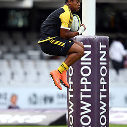 DURBAN, SOUTH AFRICA - MAY 07: Julian Savea of the Hurricanes during the Super Rugby match between Cell C Sharks and Hurricanes at Growthpoint Kings Park on May 07, 2016 in Durban, South Africa. (Photo by Steve Haag /Gallo Images)