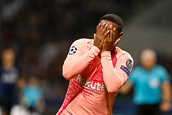 November 7, 2018 - Milan, Italy - Malcom of Barcelona celebrates his goal during the Group B match of the UEFA Champions League between FC Internazionale and FC Barcelona on November 6, 2018 at San Siro Stadium in Milan, Italy. (Credit Image: © Mike Kireev/NurPhoto via ZUMA Press)