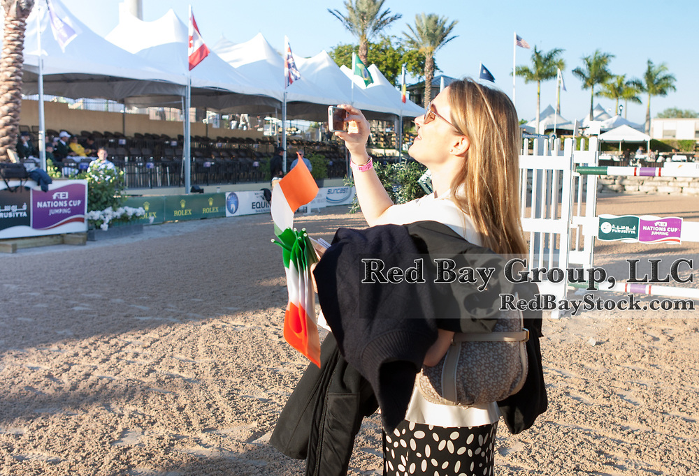 Tamso Doyle photographing her favourite Irish Team at the 2014 Furusiyya FEI Nations Cup held during the Winter Equestrian Festival in Wellington, Florida.