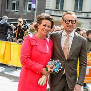 NLD/Tilburg/20170427- Koningsdag 2017, Bernhard Jr. en partner Anita van Eijk