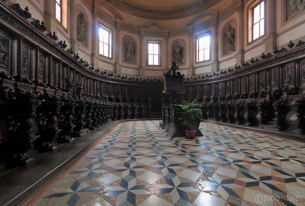 The choir of the Basilica of San Giorgio Maggiore in Venice, Italy