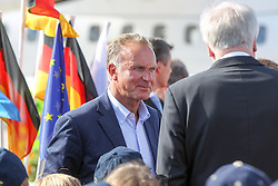 15.07.2014, Flughafen, München, GER, FIFA WM, Empfang der Weltmeister in Deutschland, Finale, im Bild l-r: Vorstandsvorsitzender Karl-Heinz Rummenigge (FC Bayern Muenchen) und Horst Seehofer (Ministerpraesident) // during Celebration of Team Germany for Champion of the FIFA Worldcup Brazil 2014 at the Flughafen in München, Germany on 2014/07/15. EXPA Pictures © 2014, PhotoCredit: EXPA/ Eibner-Pressefoto/ Christian Kolbert<br /> <br /> *****ATTENTION - OUT of GER*****