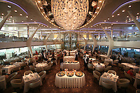 Celebrity Solstice Launch, Miami, Florida..Grand Epernay dining room.