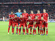 Bayern Munich players during the Champions League round of 16, leg 2 of 2 match between Bayern Munich and Liverpool at the Allianz Arena stadium, Munich, Germany on 13 March 2019.