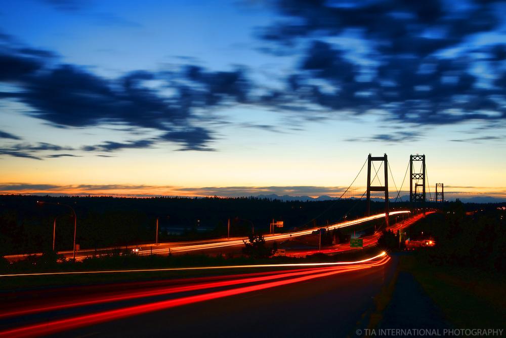 Tacoma Narrows Bridge (Sunset), Tacoma, Washington